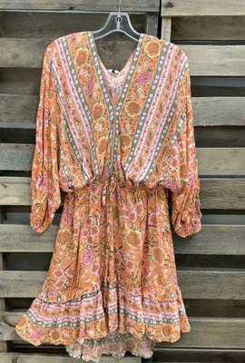 2021 Ladies Dress Bohemian Long Sleeve Short Dresses