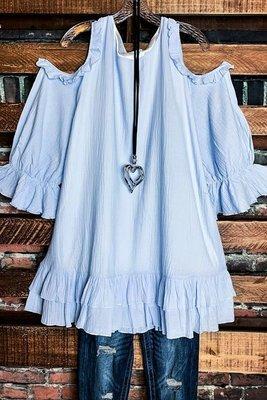 2021 Ladies Top Off Shoulder Five-Sleeve Ruffled T-shirt