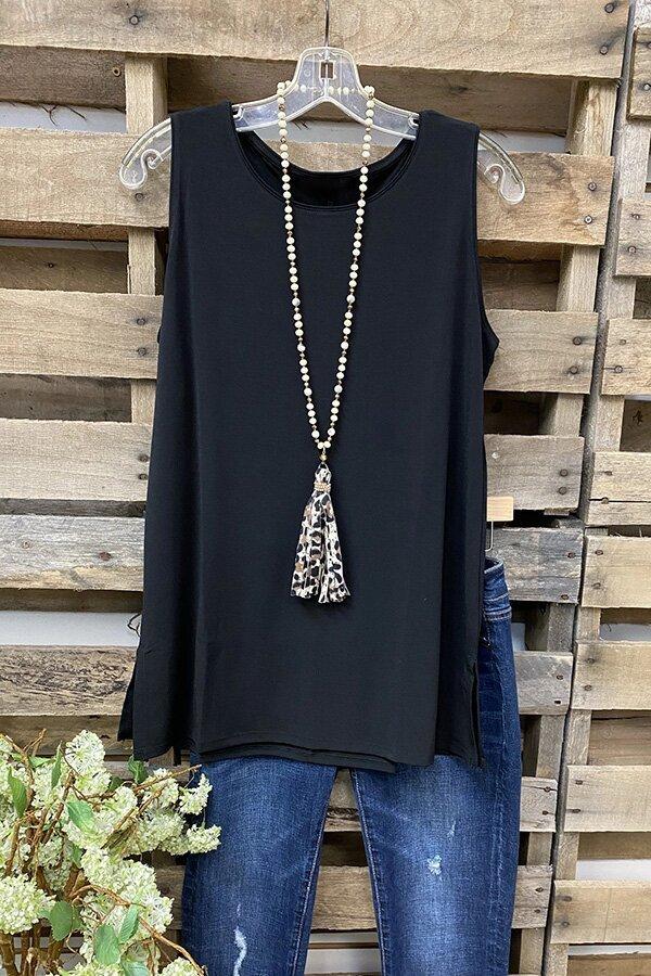 2021 Ladies Solid Color Sleeveless Vest