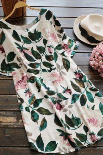 Plus Size 5XL 2021 New Fashion Women Cotton Linen Dress Female Sweet Printing Loose Ladies Casual Dress
