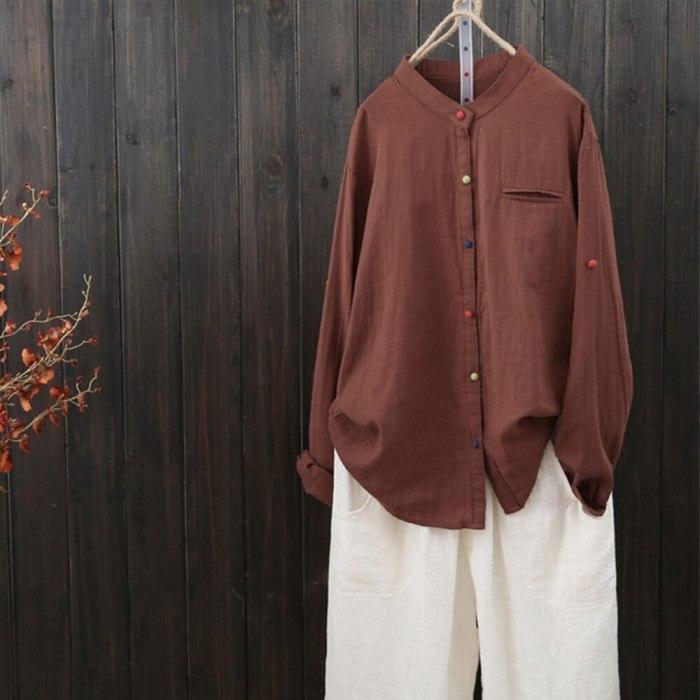 Plus Size White Blouse Cotton Linen V Neck Long Sleeve Womens Tops And Blouses Autumn Ladies Shirts 5xl Tunic Blusa