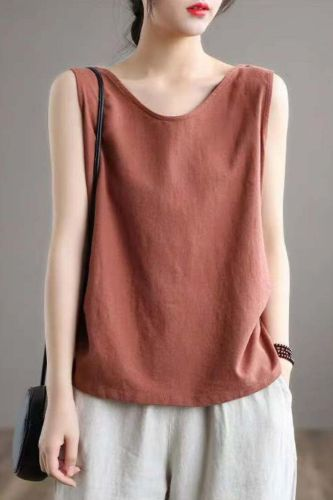 Halter Sexy Camisole Tank Top Female Women's Summer Camis Sexy off-Shoulder Solid Sleeveless Loose Vest Plus Size Basic Tops