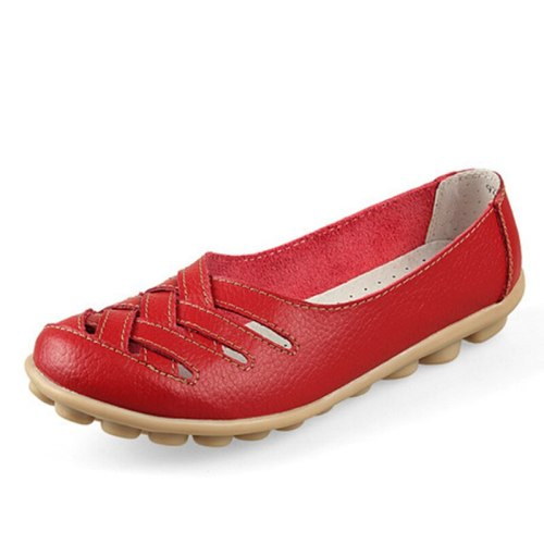 Women Flats Sandals Mother Leather Shoes Casual Moccasins Loafers Women Shoes Comfortable plus Size 34-44