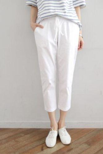 women cotton linen pants ninth length cotton trousers Good quality lady pants Plus size 6xl pants oversize cotton trousers summe