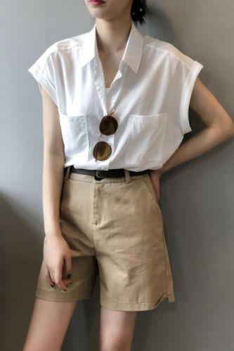 S-2XL New Oversize Women Blouses Summer Tops Femme Casual Womens Blouse Maxi Girls White Shirt Short Sleeve New Blusas