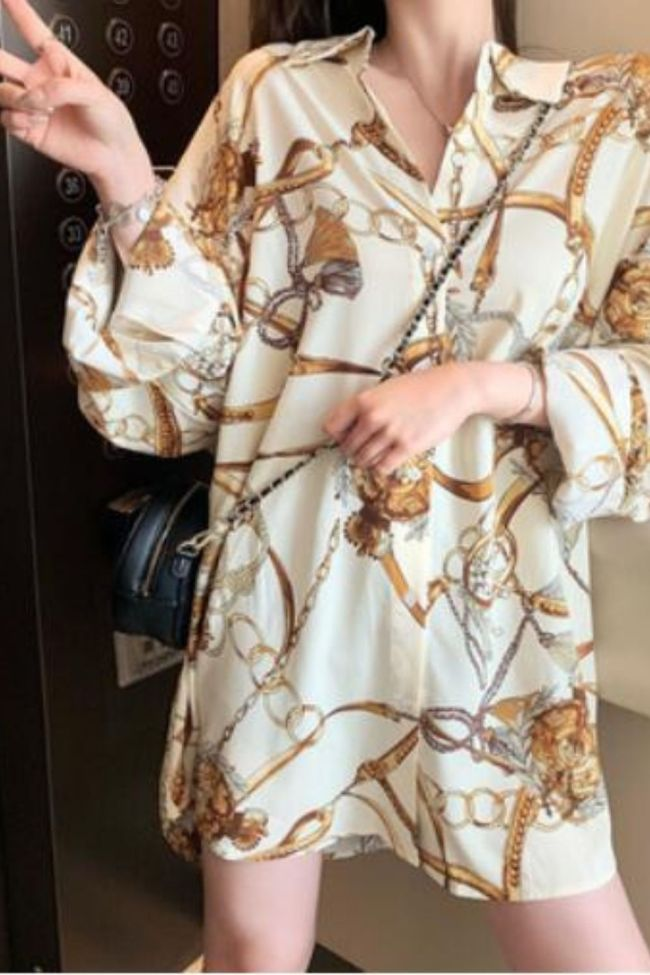Women Shirt 2021 New Summer Chiffon Sunscreen Mid Length Womens Tops and Blouses Womens Clothing Y2K Button Up Shirts