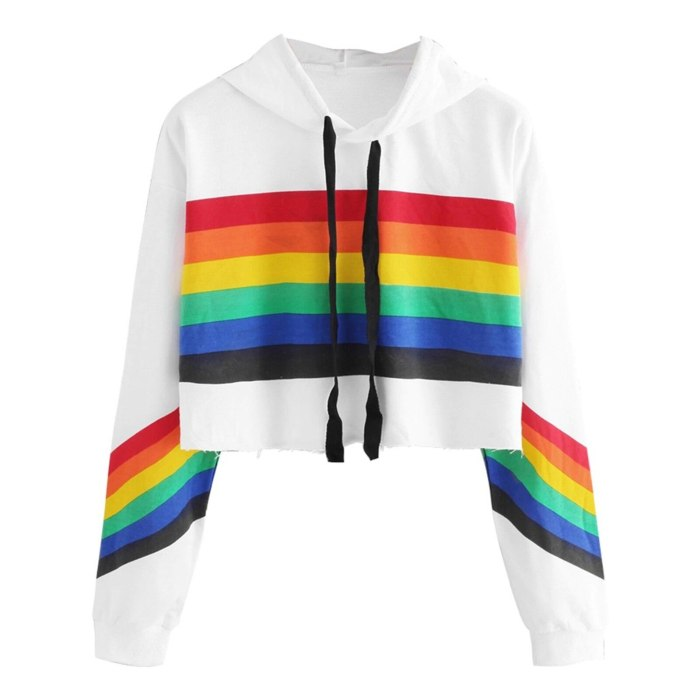 Rainbow Print Sweatshirt Blouse Tops For Women Mix-color Womens Summer Tops And Short Sleeve Blouses Рубашка Женская Blusas
