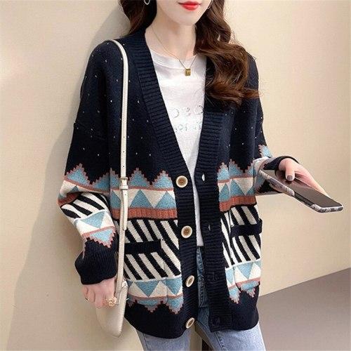 2021 Ins Fashion Women New Cardigans Autumn Winter Women Knit Cardigans Outwear Women Cothing Cardigans