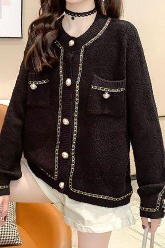 Women's Autumn Knitted Sweater 2021 New Women's Knitting Jacket Cardigan Jacket Lazy Wind Loose Wear Sweaters Female Knitwear