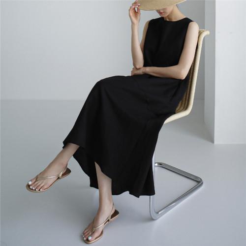 Women's A-Line Dress Midi Dress - Sleeveless Pocket Summer Basic Holiday printed Long Maxi Dress