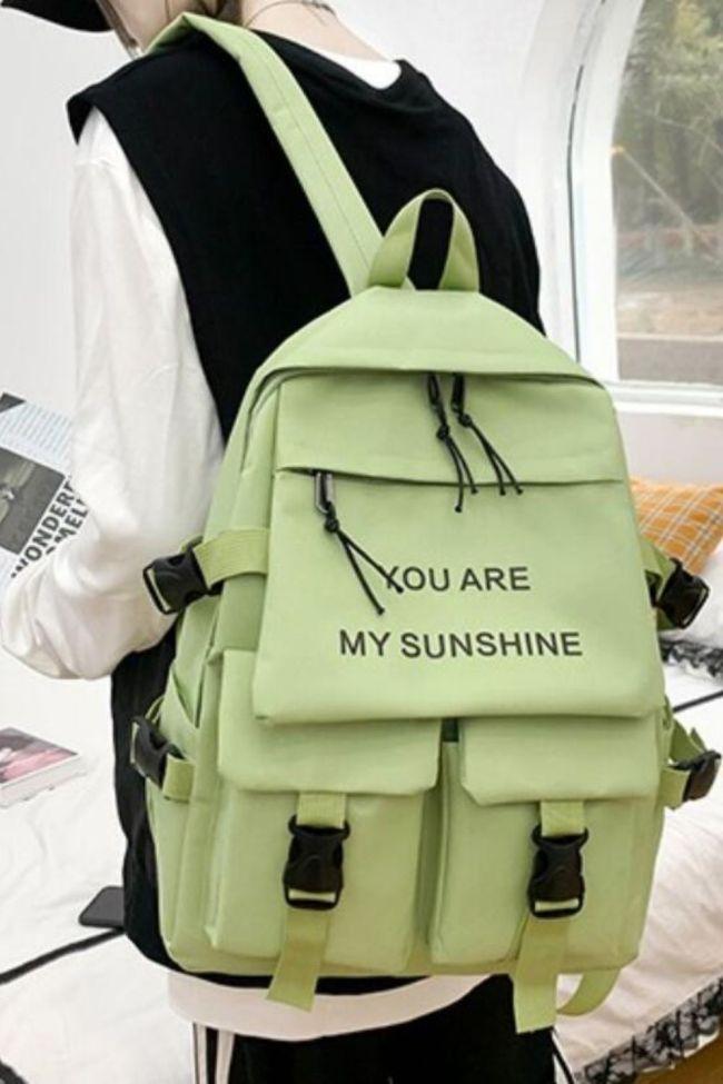 5Piece Set Kawaii Schoolbags for Teenage Girls Women Backpack 2021 Canvas Travel Back pack Student notebook Bookbags Schoolbag