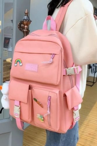 4 pcs sets canvas Schoolbags For Teenage Girls Women Backpack Canvas kids Primary School Bag College Student Laptop Backpacks