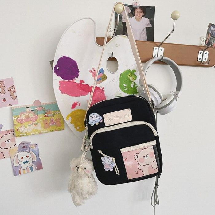 2021 New Small Shoulder Bag Japanese Ins Vintage Sense Cute Creative Soft Girl Student Messenger Bag