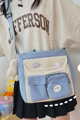 Fashion College Style Simple And Versatile Color Matching Student Class Bag Small Fresh Messenger Bag Female