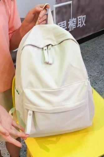 New Trend Backpack Fashion Canvas Women Backpack New Solid Color Shoulder Bags Solid Color Teenager Girl School Bag Mochilas