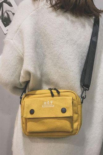 Casual And Versatile Canvas Bag Female New Korean Student Leisure Messenger Bag