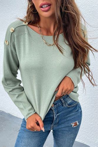 2021 Autumn O-Neck Loose Knit Sweater Women Fashion Winter Pullovers Tops  Sweaters Casual Button Long Sleeve Knitted Jumpers