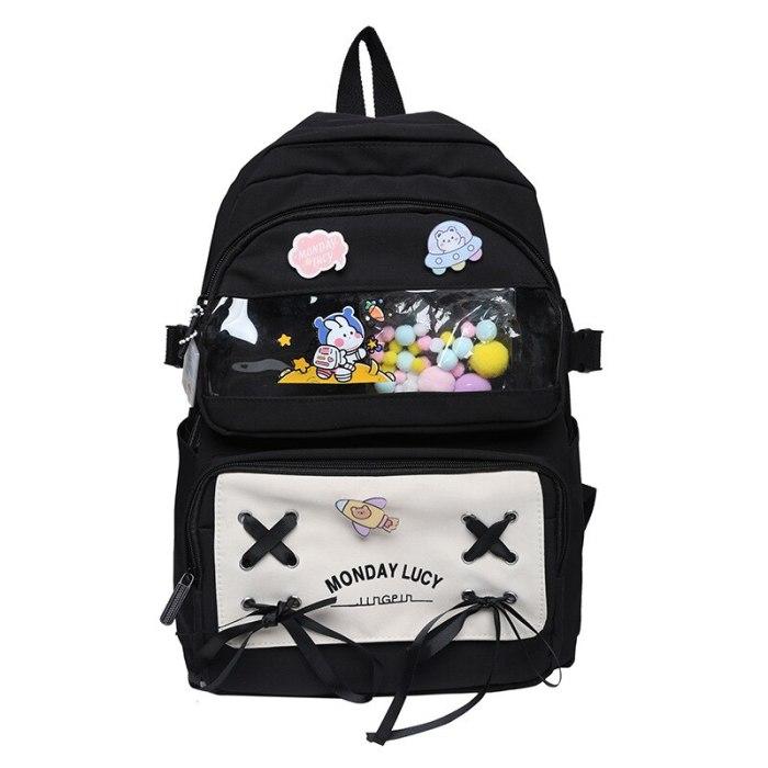 New Female Schoolbag Korean Version High School Elementary School Student Large-Capacity Backpack Kawaii Bookbag For Teen Girls