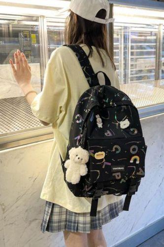 Backpack Women New Letter Print School Bags For Teenage Girls Lovely Backpacks Student Bookbag Mochila Feminina