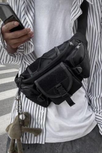 Unisex Waist Bag Tooling Trend Fanny Pack Banana Bags Multifunction Women Crossbody Waist Pack Streetwear Hip Hop Chest Bag