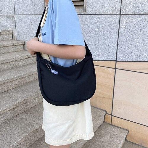 Korean Simple Crossbody Bags For Women Nylon Bag Pure Color Shoulder Bag New Summer Messenger Bag Handbag Bolsa Mujer Nylon Bag
