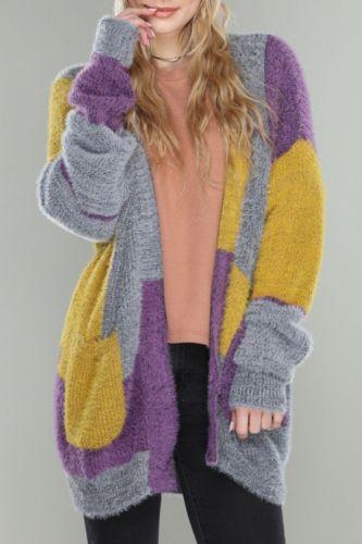 Women's Cardigan Knitted Korean Fashion Stripe Wool Sweater for Women Winter Long Sleeve V-neck Casual Knitwear Coats Female