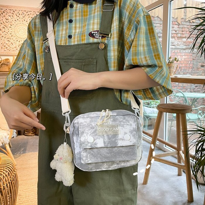 2021 Small Women Bag Female Handbags Girl Top Quality Phone Pocket Canvas Shoulder Bags Fashion