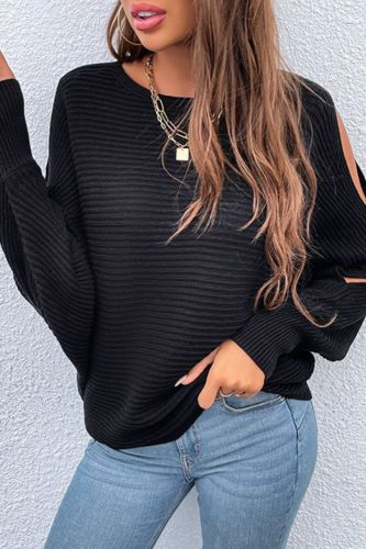 Autumn sleeve hollow knitted Sweater women pullovers 2021 Fashion winter new pullovers casual bat sleeve black sweater jumper