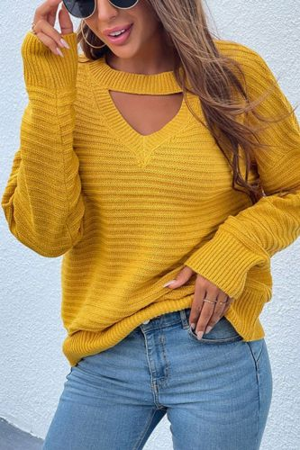 Autumn Women Fashion Solid Sweater Pullovers O-Neck Loose Hollow Out Pullovers Tops Female Knit Sweater Pullovers