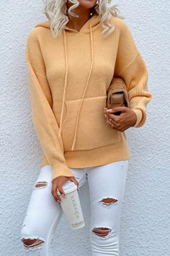 2021 New Women's Pullover Sweaters Hooded Sweater With Pocket