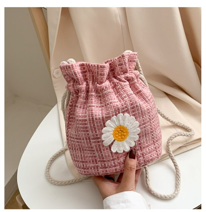 Summer Straw Woven Bag 2021 New Girl Bag Western Style Woven One-shoulder Mini Messenger Bag Small Pouch