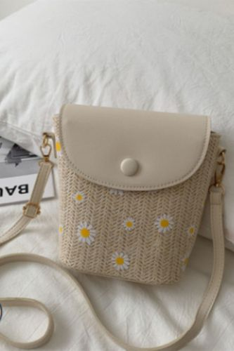 Summer Net Bucket Bag Weaving New Popular Stiletto Women's Straw Fashion One-shoulder Bag