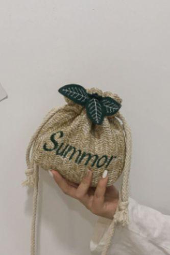 New designer bucket bag small summer straw crossbody beach bags Summer women bolso paja mini rattan shoulder bag