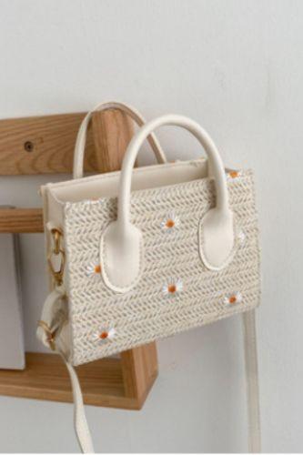 New Ladies Straw Woven Bags Casual Small Fresh Zipper Shoulder Bag Street Trend Messenger Female Bag Handbags for Women 2021