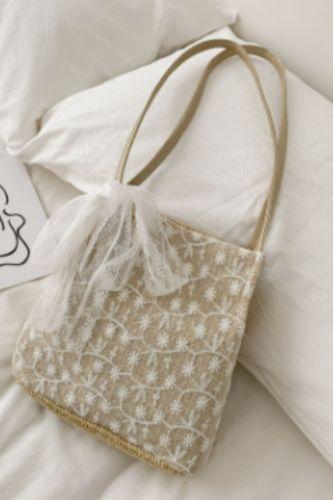Casual Straw Large Capacity Tote Wicker Woven Shoulder Bags Rattan Handbags Summer Beach Bag Travel Big Purses