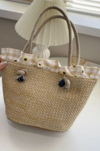 Summer Straw Bag For Women 2021 Large Capacity Wicker Woven Handbag Female Braided Raffia Pouch Shopping Bag Travel Beach Bags
