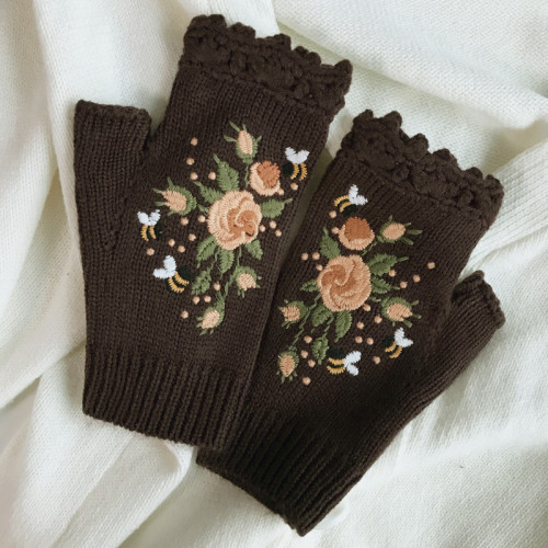 Casual Tribal Women Knitted Gloves & Mittens