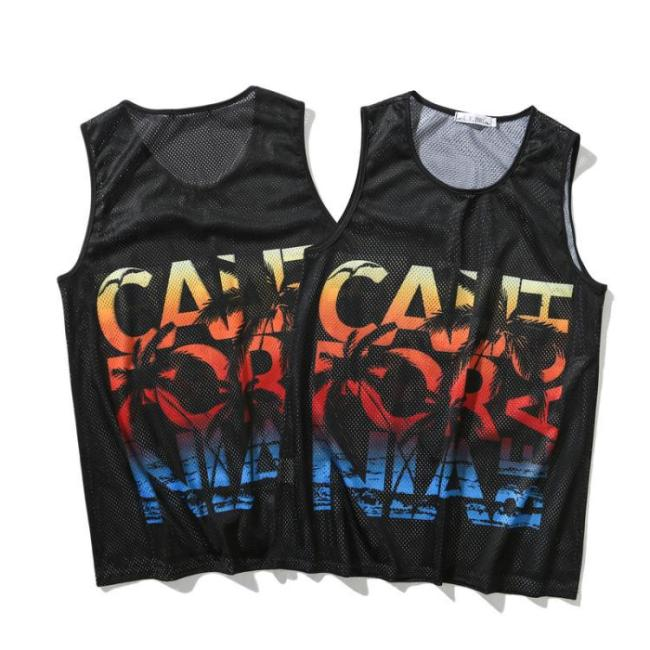 Black Crew Neck Cotton Sleeveless Shirts & Tops