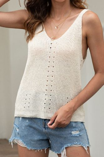 Plus Size 2021 Women Summer Camis Knitted Beach Casual Crop Sexy Fashion Tanks