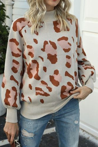Women Oversize Warm Women's Clothing Autumn and Winter Sexy Sleeve Glans Collar Long Sleeve Knitted Sweater Twist Loose Casual