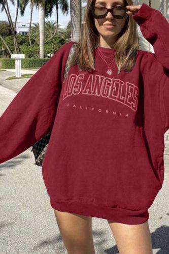 Los Angles Pullovers Women Hoodies Long Sleeve Loose Autumn Casual Woman Sweatshirt 2021 Fashion Hoodies For Women