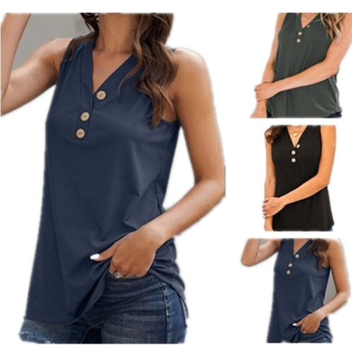 loose T-shirts Women Jumper sleeveless tank V-neck Tops Woman Pullovers female sexy fashion solid casual cloth undershit FC0943