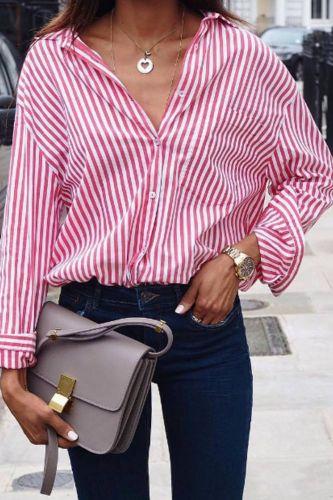 Women Striped Long Sleeve Blouse Shirt Female Loose Blusas Femme Autumn Casual Ladies Office Blouses Shirt Tops Plus Size S-5XL