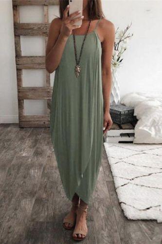 Irregular Women Wrap Maxi Dress 2021 Summer Beach Style Sukienka Baggy Dress Size 3xl Loose Casual Wear Fold Drape Dress Straps