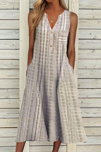 Summer Casual Women V Neck Streetwear Dress Loose Oversized XXXL Pockets Button Dress Female Solid Off Shoulder Sleeveless Dress