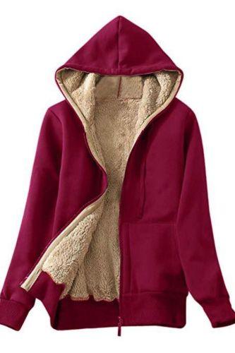 Hoodies Women Autumn Winter Student Fashion Plus Size Loose Velvet Thickened Cardigan Zipper Solid Mujer De Moda Streetwear