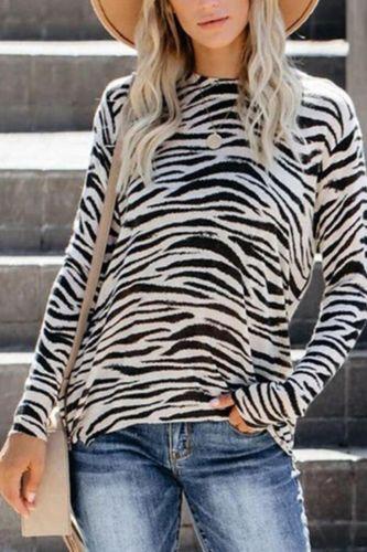 Autumn Women's T Shirt Sexy Leopard Printed Long Sleeve Stripe Tops Fashion Street Quality Casual Slim Ladies T Shirt