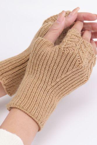Woman Fingerless Gloves Winter Autumn Warm Soft Knitted Mittens Fashion Wrist Arm Hand Half Finger Glove