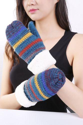 1 Pair Female Gloves Women Lady Girl Gloves Mittens Knitting Plush Thicken Keep Warm Fashion Fingerless Gloves For Winter