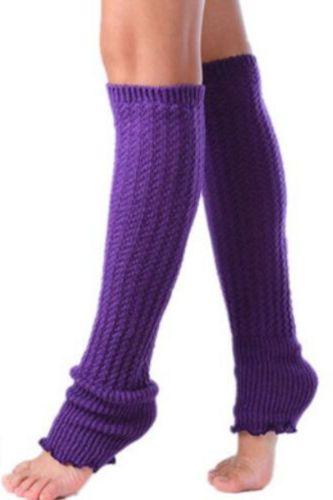 1 Pair Woman Leg Warmers Long Stockings Popular Hemp Flowers Knitting Step Foot Winter Warm Stocking Fashion